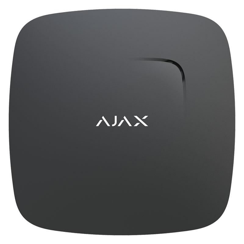 Беспроводный датчик дыма Ajax FireProtect Plus black с сенсором угарного газа и температуры
