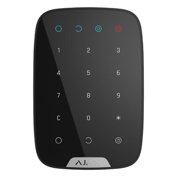 Security Alarms/Keypads Wireless touch keypad Ajax KeyPad black