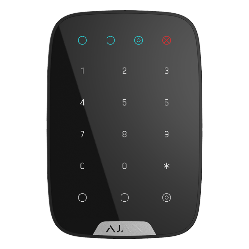Бездротова сенсорна клавіатура Ajax KeyPad black