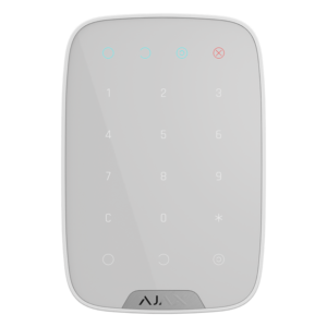 Охоронні системи/Клавіатури Бездротова сенсорна клавіатура Ajax KeyPad white