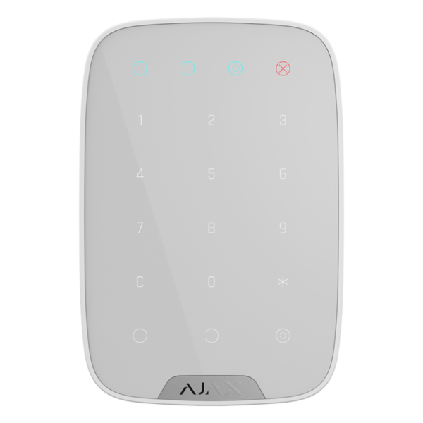 Security Alarms/Keypads Wireless touch keypad Ajax KeyPad white