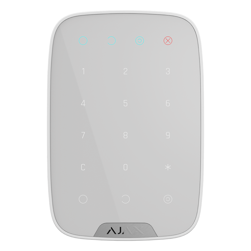 Бездротова сенсорна клавіатура Ajax KeyPad white