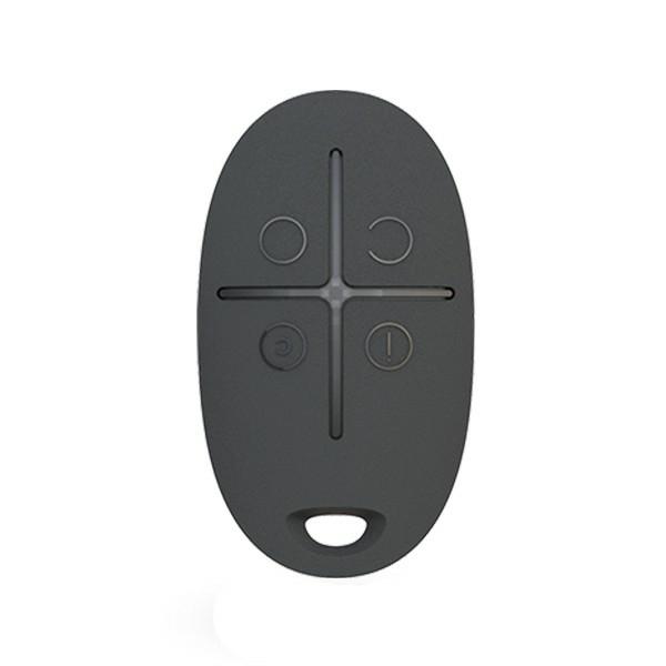 Охоронні сигналізації/Тривожні кнопки, Брелоки Брелок управління системою Ajax SpaceControl black з тривожною кнопкою