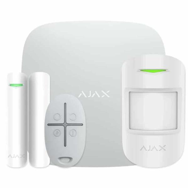 Охоронні сигналізації/Комплекти сигналізацій Комплект бездротової сигналізації Ajax StarterKit Plus white з розширеними можливостями