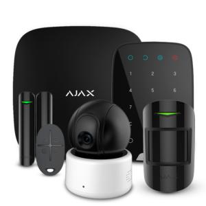 Охоронні системи/Комплекти сигналізацій Комплект сигналізації Ajax StarterKit + KeyPad black + Wi-Fi камера 2MP-D
