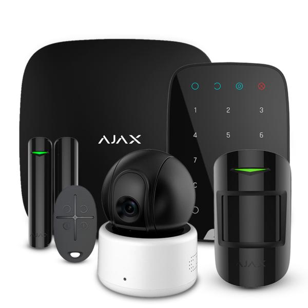 Охранные сигнализации/Комплекты сигнализаций Комплект сигнализации Ajax StarterKit + KeyPad black + Wi-Fi камера 2MP-D