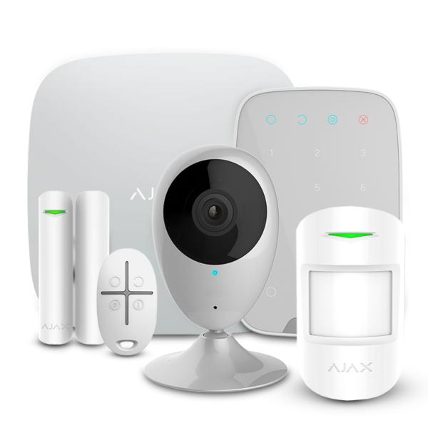 Security Alarms/Alarm Kits Alarm Kit Ajax StarterKit + KeyPad white + Wi-Fi Camera 2MP-H