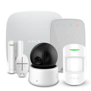 Охранные системы/Комплекты сигнализаций Комплект сигнализации Ajax StarterKit + KeyPad white + Wi-Fi камера 2MP-D