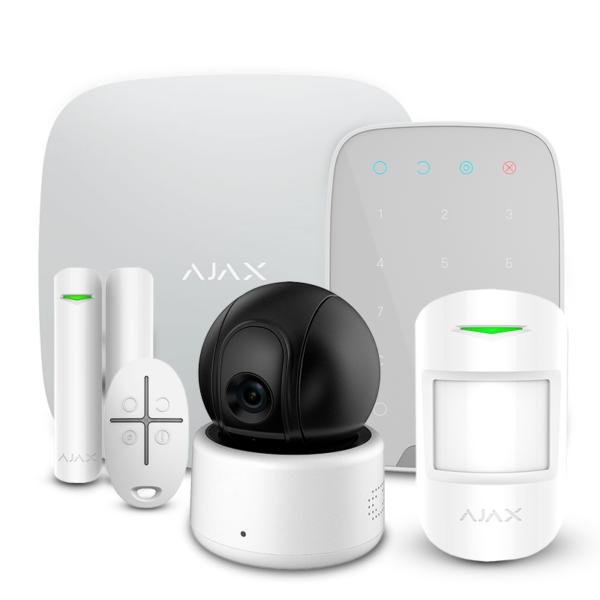 Security Alarms/Alarm Kits Alarm Kit Ajax StarterKit + KeyPad white + Wi-Fi Camera 2MP-D