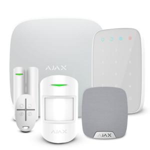Охранные системы/Комплекты сигнализаций Комплект беспроводной сигнализации Ajax StarterKit + KeyPad + HomeSiren white