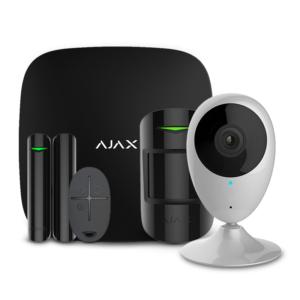 Охранные системы/Комплекты сигнализаций Комплект беспроводной сигнализации Ajax StarterKit black + Wi-Fi камера 2MP-H