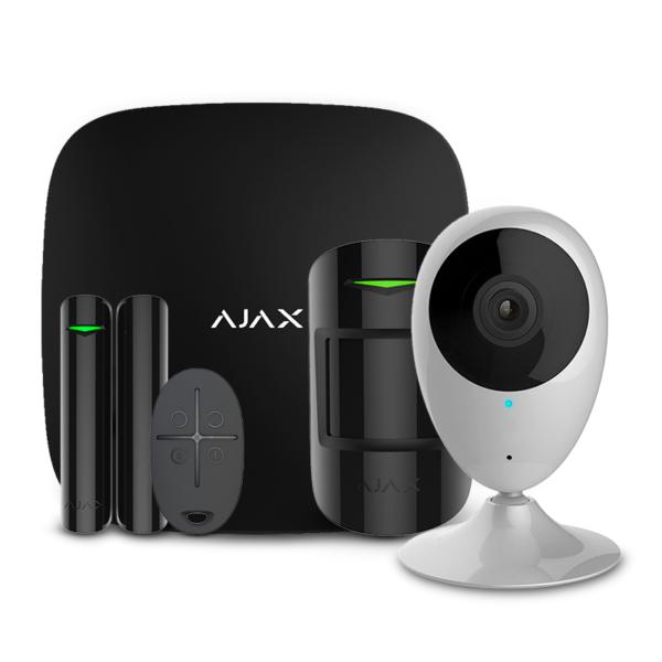 Security Alarms/Alarm Kits Wireless Alarm Kit Ajax StarterKit black + Wi-Fi Camera 2MP-H