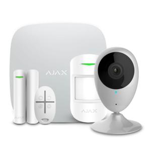Охоронні системи/Комплекти сигналізацій Комплект бездротової сигналізації Ajax StarterKit white + Wi-Fi камера 2MP-H