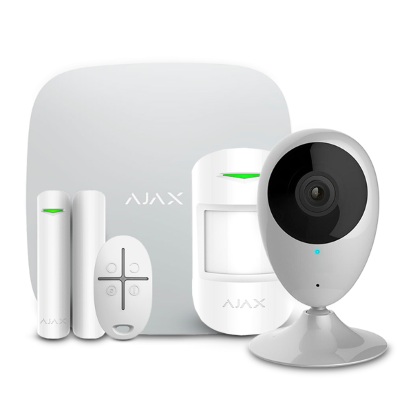 Security Alarms/Alarm Kits Wireless Alarm Kit Ajax StarterKit white + Wi-Fi Camera 2MP-H