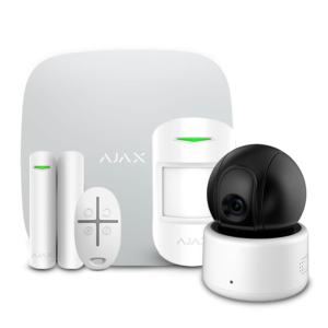Охоронні системи/Комплекти сигналізацій Комплект бездротової сигналізації Ajax StarterKit white + Wi-Fi камера 2MP-D