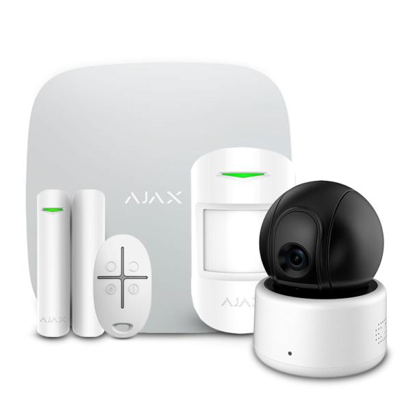 Охранные сигнализации/Комплекты сигнализаций Комплект беспроводной сигнализации Ajax StarterKit white + Wi-Fi камера 2MP-D