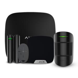 Охоронні системи/Комплекти сигналізацій Комплект бездротової сигналізації Ajax StarterKit + HomeSiren black