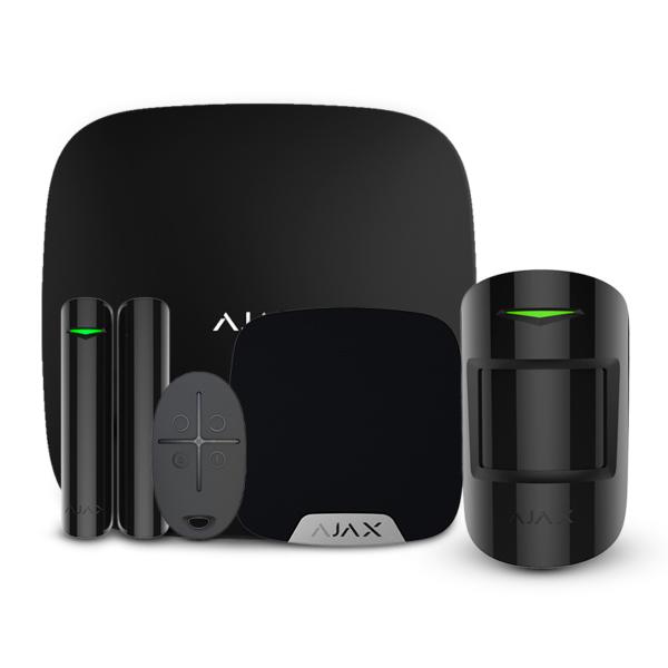 Security Alarms/Alarm Kits Wireless Alarm Kit Ajax StarterKit + HomeSiren black