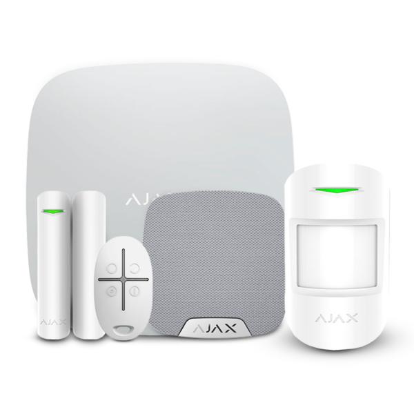 Security Alarms/Alarm Kits Wireless Alarm Kit Ajax StarterKit + HomeSiren white