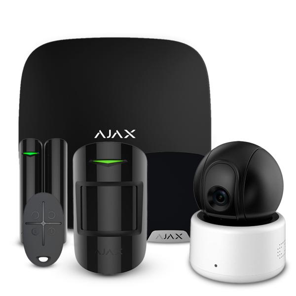 Охоронні сигналізації/Комплекти сигналізацій Комплект сигналізації Ajax StarterKit + HomeSiren black + Wi-Fi камера 2MP-D