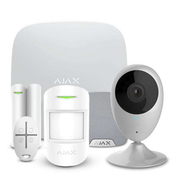 Охранные сигнализации/Комплекты сигнализаций Комплект сигнализации Ajax StarterKit + HomeSiren white + Wi-Fi камера 2MP-H