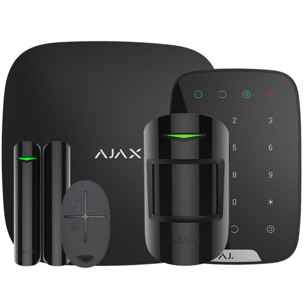 Security Alarms/Alarm Kits Wireless Alarm Kit Ajax StarterKit Plus + KeyPad black with enhanced communication capabilities