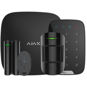 Охоронні системи/Комплекти сигналізацій Комплект бездротової сигналізації Ajax StarterKit + KeyPad black