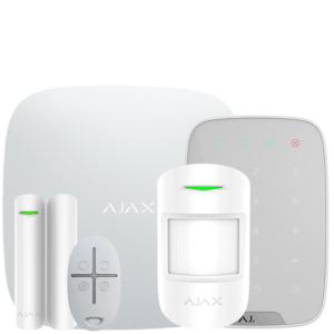 Охоронні системи/Комплекти сигналізацій Комплект бездротової сигналізації Ajax StarterKit + KeyPad white