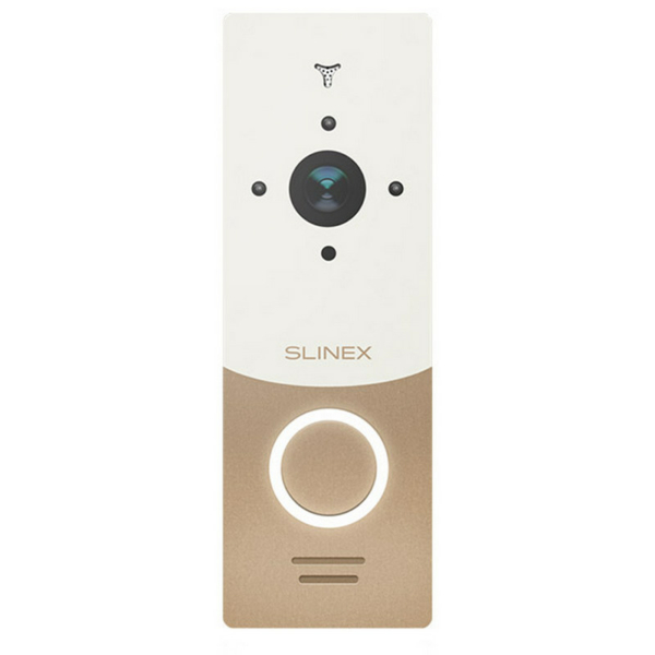 Домофоны/Вызывные видеопанели Вызывная Wi-Fi IP-видеопанель Slinex ML-20IP gold+white