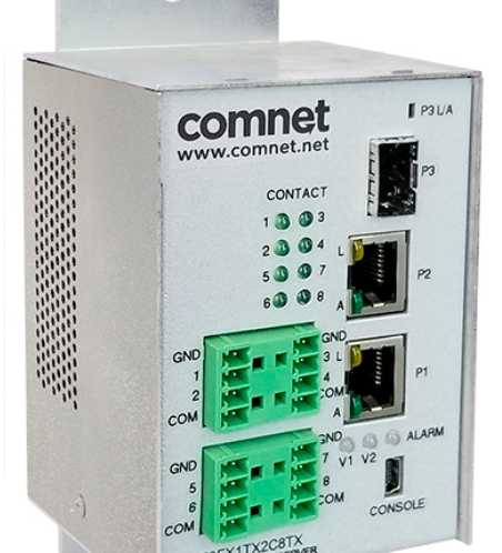 Video surveillance New ComNet - Compact Switch with SFP Port for IP Video Systems