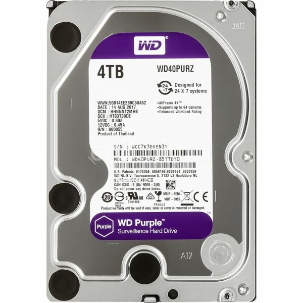 Video surveillance/HDD for CCTV HDD Western Digital Purple WD40PURZ 4 TB