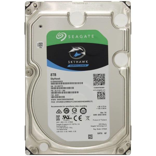 Відеонагляд/Жорсткі диски (HDD) для відеоспостереження Жорсткий диск Seagate Skyhawk ST8000VX0022 8 TB