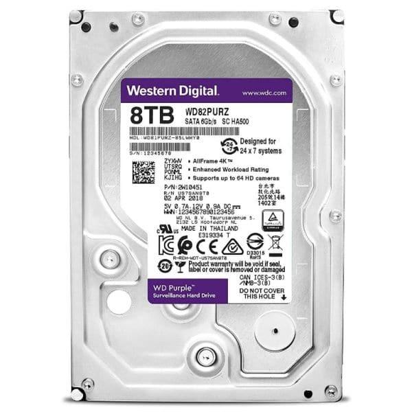 Відеонагляд/Жорсткі диски (HDD) для відеоспостереження Жорсткий диск Western Digital Purple WD82PURZ 8 TB