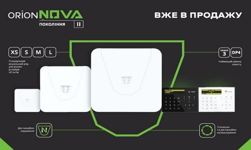 Security systems Overview of the Orion NOVA II line-up: the latest security systems from a Ukrainian developer