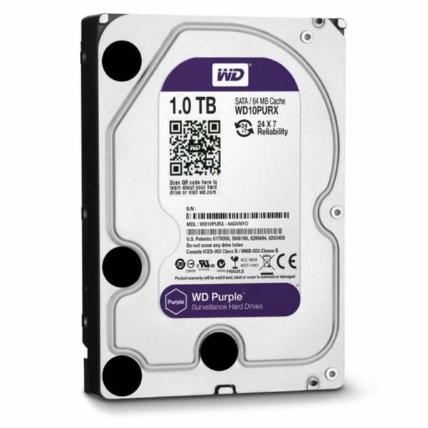 Видеонаблюдение/Жесткие диски (HDD) для видеонаблюдения Жесткий диск Western Digital Purple WD10PURX 1 TB