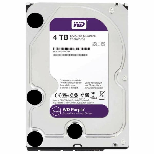 Видеонаблюдение/Жесткие диски (HDD) для видеонаблюдения Жесткий диск Western Digital Purple WD40PURX 4 TB