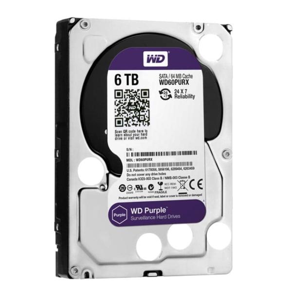 Video surveillance/HDD for CCTV HDD Western Digital Purple WD60PURX 6 TB
