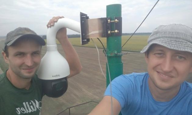 PTZ camera on the farm