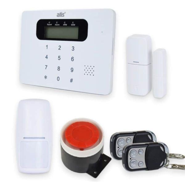 Охранные сигнализации/Комплекты сигнализаций Комплект беспроводной сигнализаций Atis Kit GSM 100 со встроенной клавиатурой