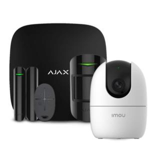 Охоронні системи/Комплекти сигналізацій Комплект бездротової сигналізації Ajax StarterKit black + Wi-Fi камера 2MP-A22EP