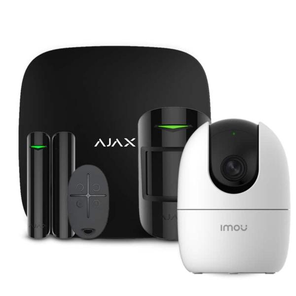 Охранные сигнализации/Комплекты сигнализаций Комплект беспроводной сигнализации Ajax StarterKit black + Wi-Fi камера 2MP-A22EP