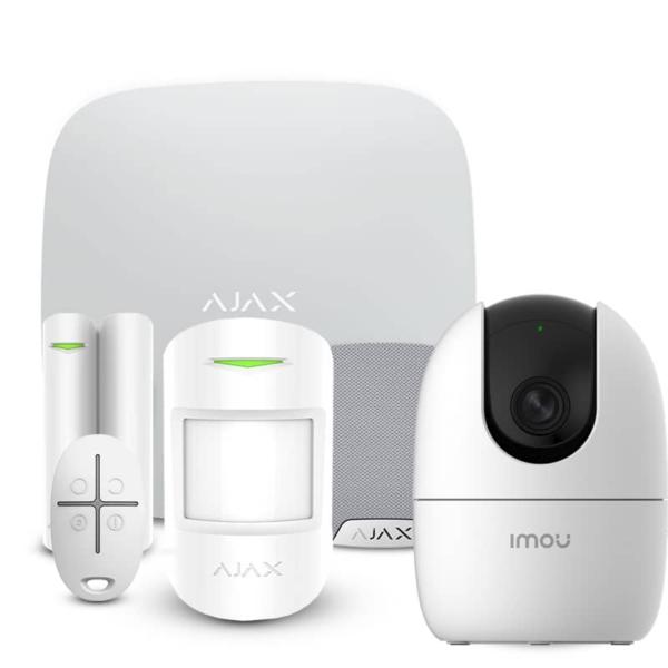 Security Alarms/Alarm Kits Alarm Kit Ajax StarterKit + HomeSiren white + Wi-Fi Camera 2MP-A22EP