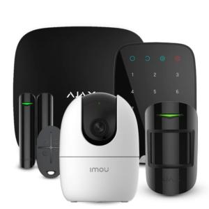Охоронні системи/Комплекти сигналізацій Комплект сигналізації Ajax StarterKit + KeyPad black + Wi-Fi камера 2MP-A22EP