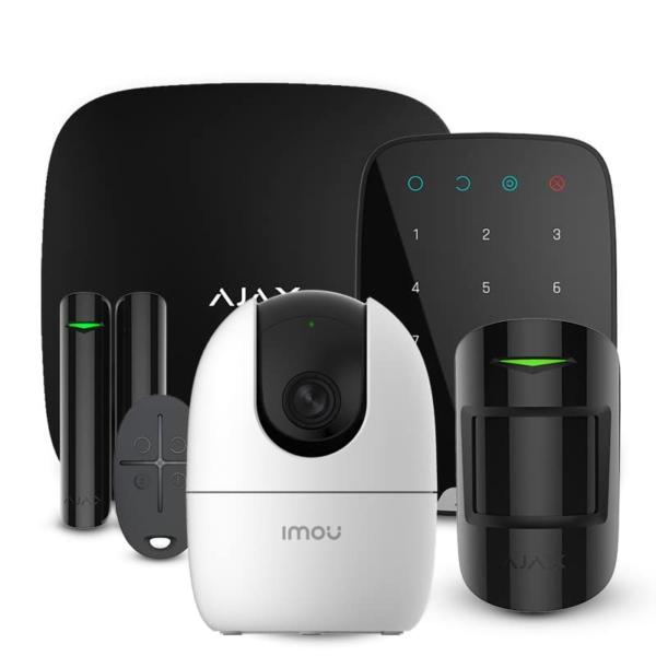 Security Alarms/Alarm Kits Alarm Kit Ajax StarterKit + KeyPad black + Wi-Fi Camera 2MP-A22EP