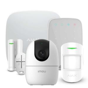 Охоронні системи/Комплекти сигналізацій Комплект сигналізації Ajax StarterKit + KeyPad white + Wi-Fi камера 2MP-A22EP