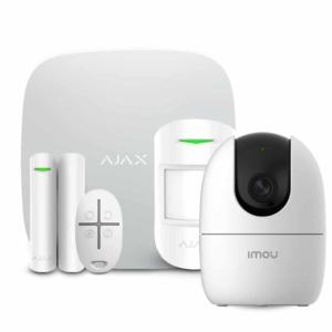 Security Alarms/Alarm Kits Wireless Alarm Kit Ajax StarterKit white + Wi-Fi Camera 2MP-A22EP