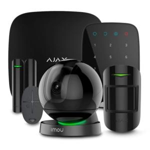 Охоронні сигналізації/Комплекти сигналізацій Комплект сигналізації Ajax StarterKit + KeyPad black + Wi-Fi камера 2MP-A26HP