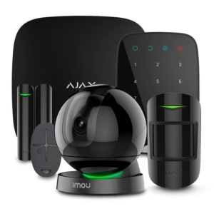 Охранные сигнализации/Комплекты сигнализаций Комплект сигнализации Ajax StarterKit + KeyPad black + Wi-Fi камера 2MP-A26HP