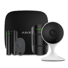 Security systems/Alarm Kits Wireless Alarm Kit Ajax StarterKit black + Wi-Fi Camera 2MP-C22EP