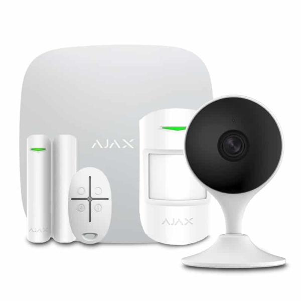 Охоронні сигналізації/Комплекти сигналізацій Комплект бездротової сигналізації Ajax StarterKit white + Wi-Fi камера 2MP-C22EP